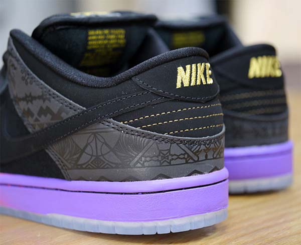 NIKE DUNK LOW PREMIUM SB BHM [BLACK/BLACK-PURPLE VENOM] 504750-001