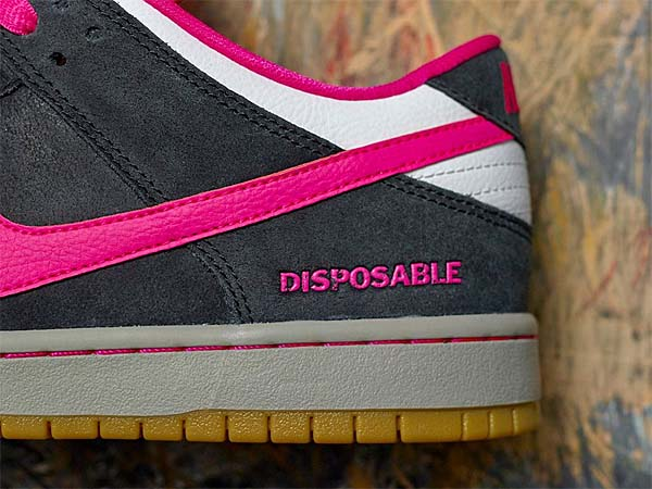 NIKE DUNK LOW PREMIUM SB DISPOSABLE [BLACK / PINK / FOIL-WHITE] 504750-061