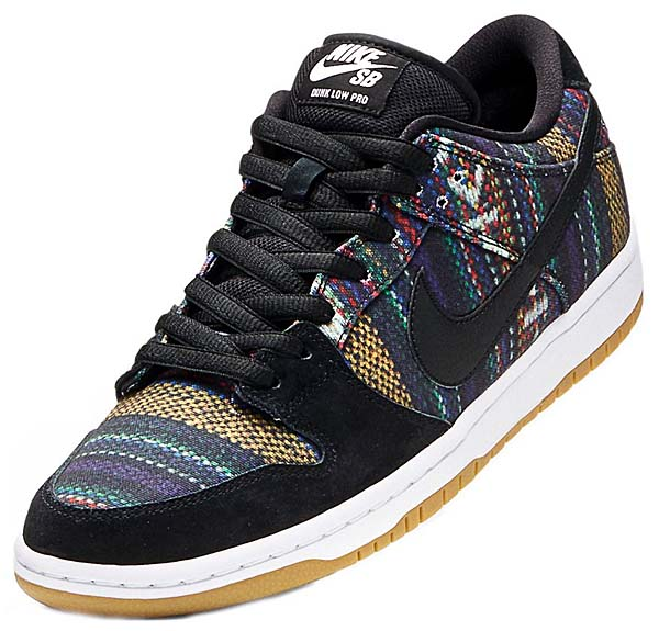 NIKE SB DUNK LOW PREMIUM [MULTI-COLOR/BLACK-WHITE] 504750-901