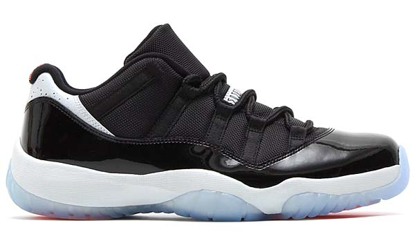 NIKE JORDAN AIR JORDAN 11 RETRO LOW [BLACK/INFRARED 23-PR PLATINUM] 528895-023