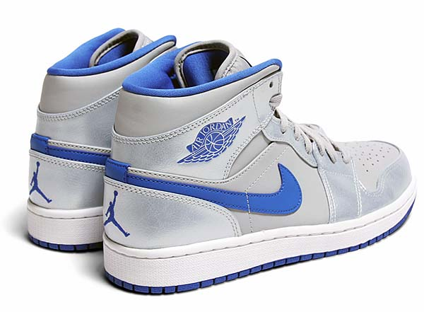NIKE AIR JORDAN 1 MID [WOLF GREY/SPORT BLUE-WHITE] 554724-025