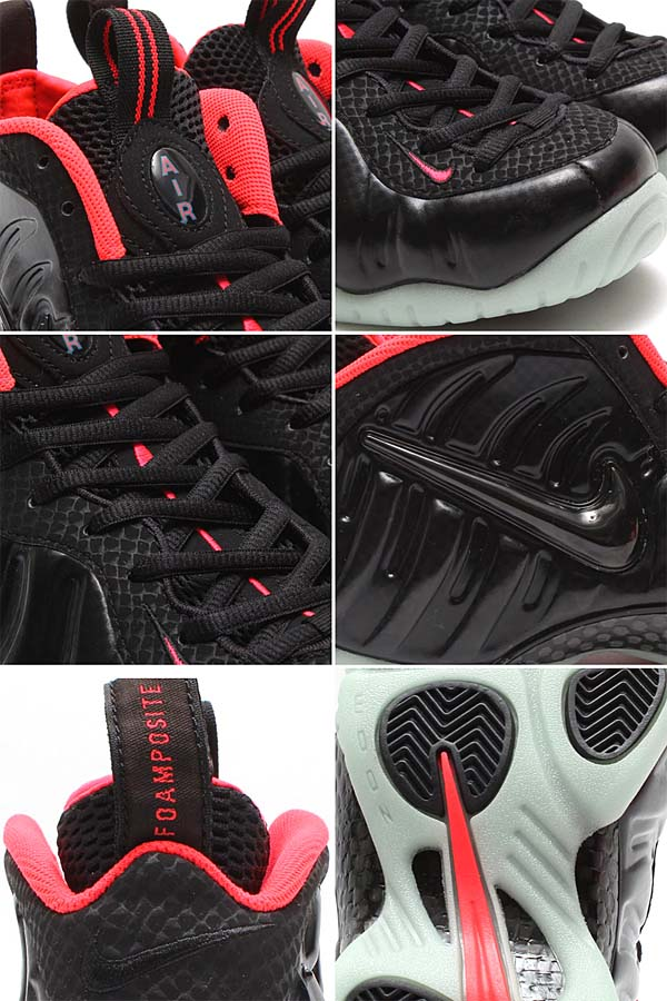 NIKE AIR FOAMPOSITE PRO PRM [BLACK/BLACK-LASER CRIMSON] 616750-001
