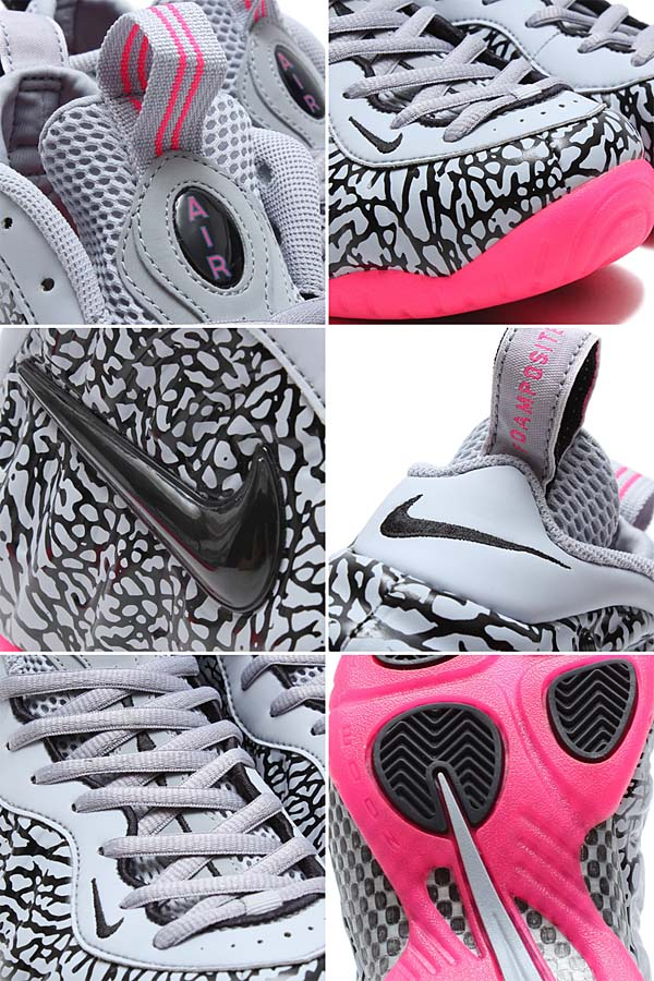 NIKE AIR FOAMPOSITE PRO PRM [WOLF GREY / BLACK-HYPER PINK] 616750-002