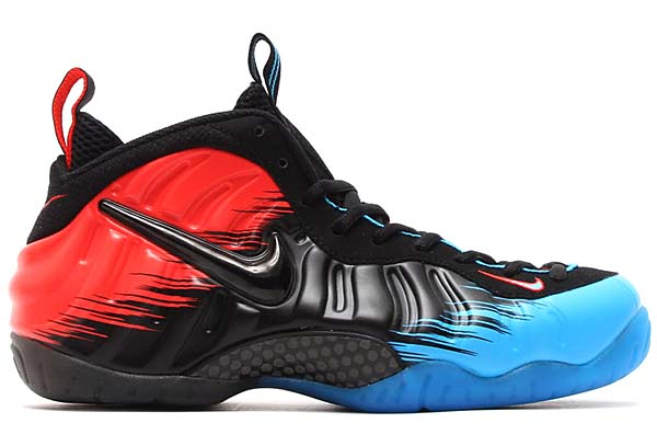 NIKE AIR FOAMPOSITE PRO PRM SPIDERMAN [VIVID BLUE/BLACK-LIGHT CRIMSON] 616750-400