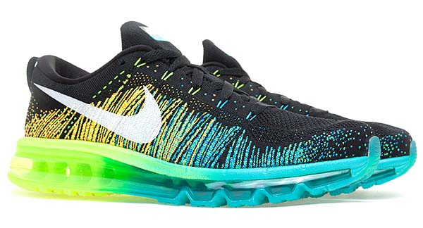 NIKE FLYKNIT MAX [BLACK/WHITE-TURBO GREEN/VOLT] 620469-001