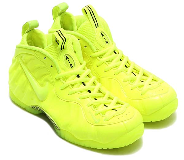 NIKE AIR FOAMPOSITE PRO [VOLT / VOLT-BLACK] 624041-700