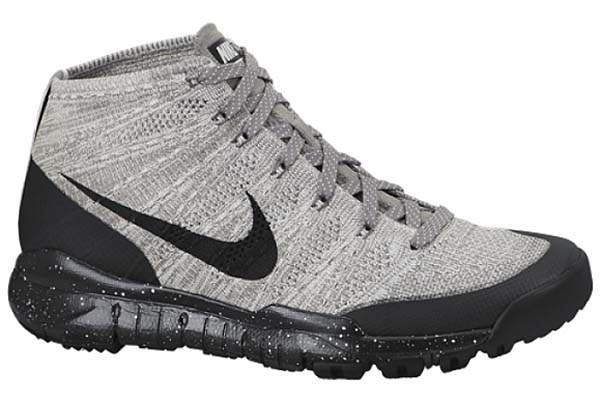 NIKE FLYKNIT TRAINER CHUKKA FSB [LIGHT CHARCOAL / BLACK-SAIL / DARK GREY] 625009-001