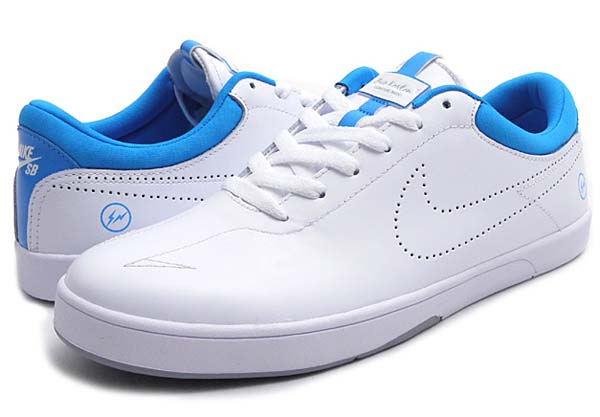 NIKE SB x Fragment Design ERIC KOSTON 1 [WHITE/WHITE-BLUE HERO] 628983-114
