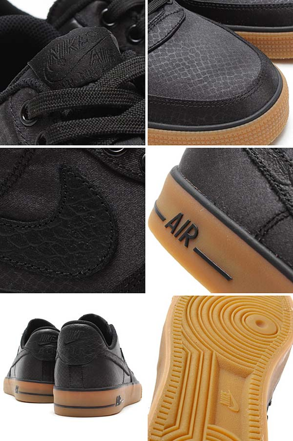 NIKE AIR FORCE 1 AC [BLACK / BLACK-GUM LIGHT BROWN] 630939-004
