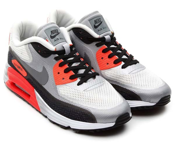 NIKE AIR MAX 90 LUNAR C3.0 [WHITE/COOL GREY-BLACK/INFRARED/LIGHT BASE GREY] 631744-106