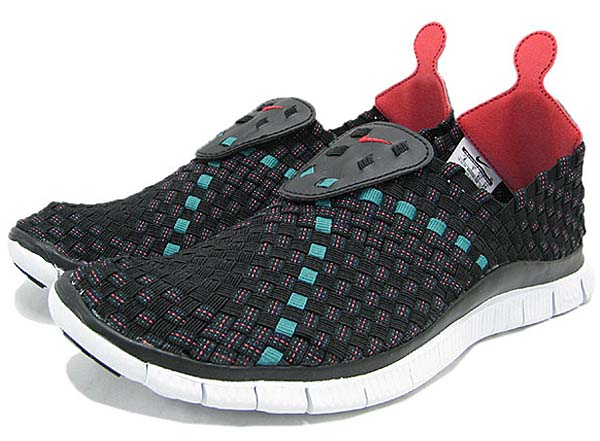 NIKE FREE WOVEN 4.0 [BLACK/LIGHT CRIMSON/MILITARY BLUE] 633230-006