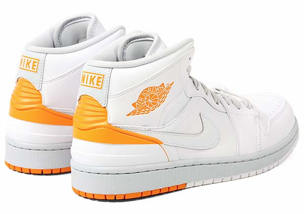 NIKE AIR JORDAN 1 RETRO 86 [WHITE/KUMQUAT-PURE PLATINUM] 644490-115
