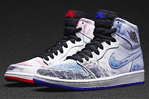 NIKE AIR JORDAN 1 SB QS Lance Mountain [WHITE / BLACK / WHITE] 653532-100