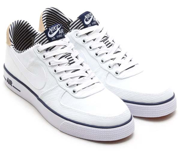 NIKE AIR FORCE 1 AC PRM QS [WHITE/WHITE-MIDNIGHT NAVY] 656523-100