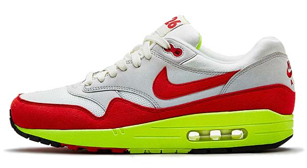 NIKE AIR MAX 1 PREMIUM QS [SAIL/UNIVERSITY RED-NTRL GREY] 665873-106
