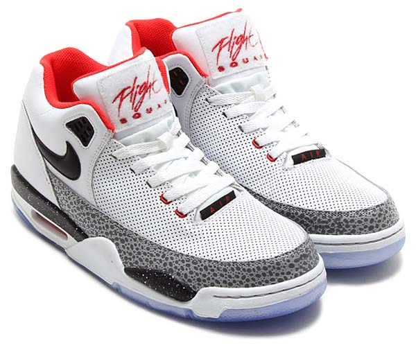NIKE FLIGHT SQUAD QS [WHITE/BLACK-WOLF GREY-CHALLENGE RED] 679260-100