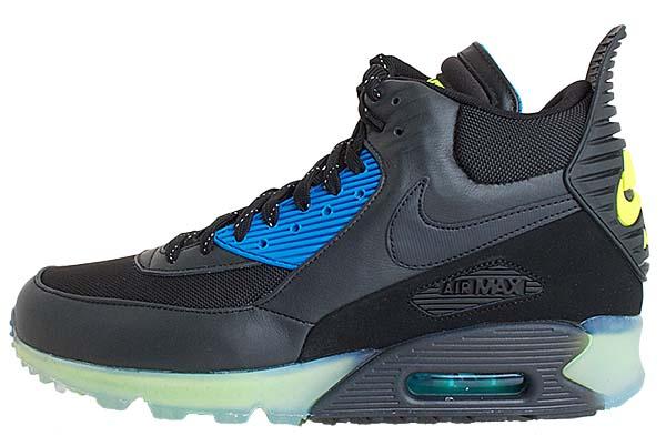 NIKE AIR MAX 90 SNEAKERBOOT ICE [BLACK / BLACK-DARK ASH-PHT BLUE] 684722-001