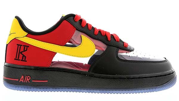 NIKE AIR FORCE 1 CMFT LOW KYRIE IRVING [BLACK / UNIVERSITY RED / TOUR YELLOW] 687843-001