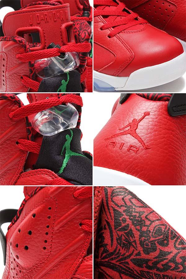 NIKE AIR JORDAN 6 RETRO SPIZIKE [VARSITY RED / CLASSIC GREEN - BLACK - WHITE] 694091-625