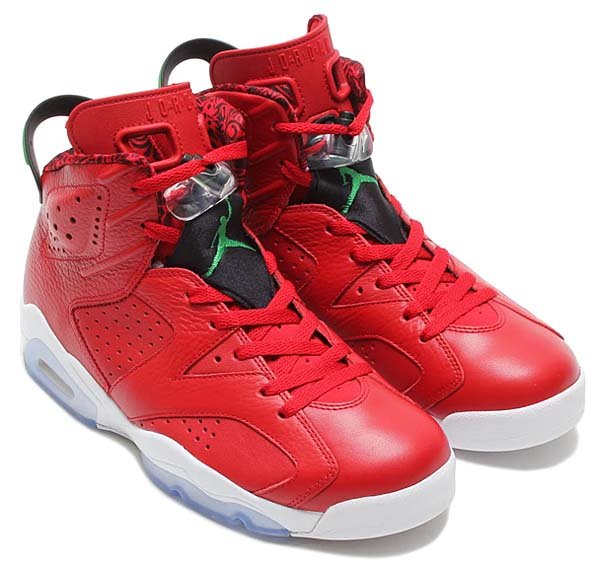 NIKE AIR JORDAN 6 RETRO SPIZIKE [VARSITY RED / CLASSIC GREEN - BLACK - WHITE] 694091-625