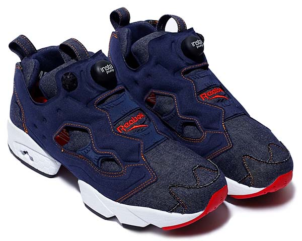 Reebok INSTAPUMP FURY for ZOZOTOWN AFFILIATES [INDIGO / NAVY / ORANGE] AQ9345