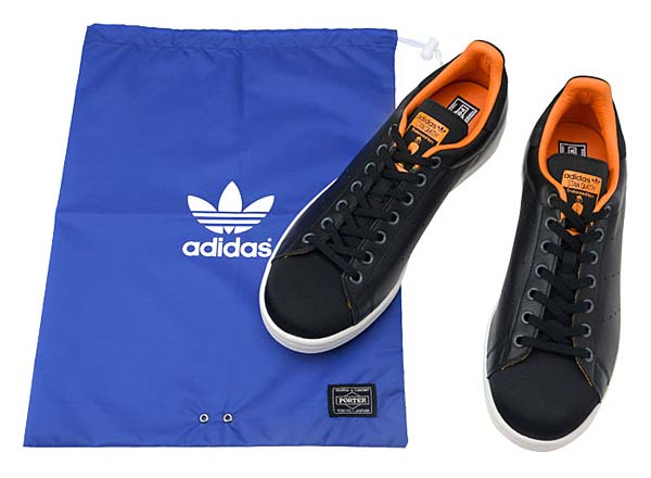 adidas Originals x PORTER Stan Smith [BLACK / ORANGE] 386-10250