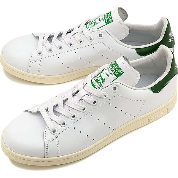 adidas Originals STAN SMITH 2015 [RUNNING WHITE/RUNNING WHITE/GREEN] B24364