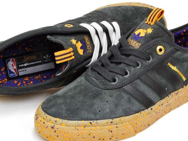 adidas skateboarding ADI-EASE ADV x THE HUNDRED LOS ANGELES LAKERS [DGSOGR / RGPUNB / GOLSLD] Q16688