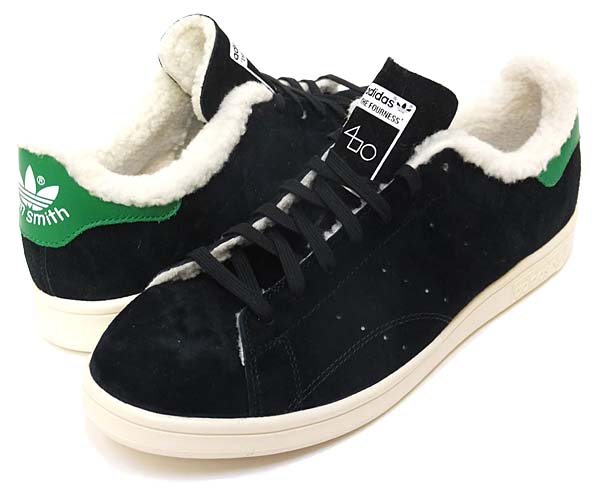 adidas x The Fourness STAN SMITH FUR [CORE BLACK / CHALK WHITE] S77877