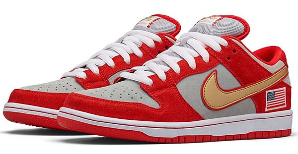 NIKE DUNK LOW PRO SB NASTY BOYS [CHALLENGE RED / WHITE / METALLIC SILVER] 304292-610