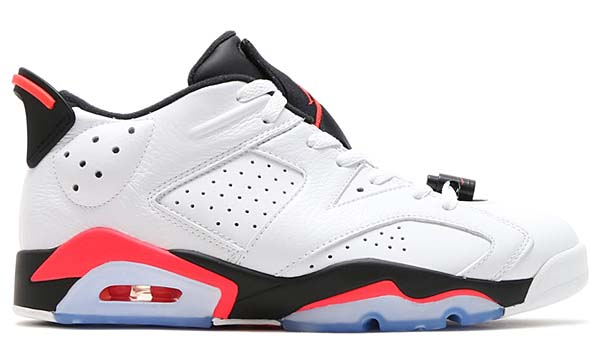 NIKE AIR JORDAN 6 RETRO LOW [WHITE / INFRARED 23-BLACK] 304401-123