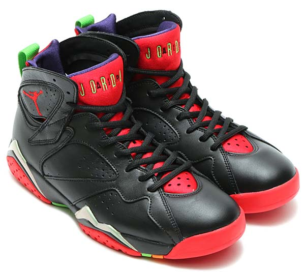 NIKE AIR JORDAN 7 RETRO MARVIN THE MARTIAN [BLACK / UNIVERSITY RED-GREEN PULSE-COOL GREY] 304775-029