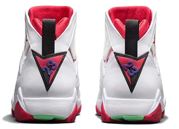 NIKE AIR JORDAN 7 RETRO HARE [WHITE / TRUE RED-LIGHT SILVER-TOURMALINE] 304775-125