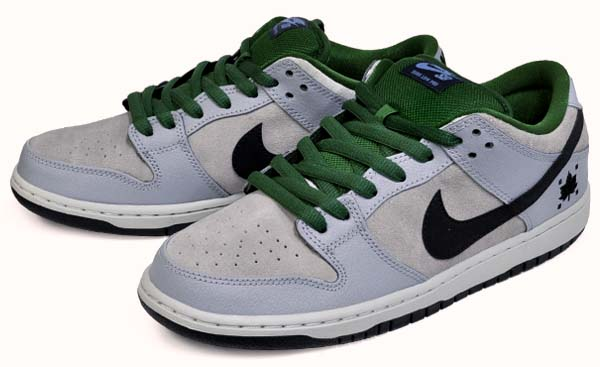 NIKE DUNK LOW PREMIUM SB Maple Leaf [DOVE GREY / GORGE GREEN / BLACK] 313170-021