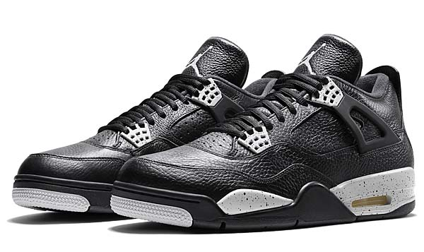 NIKE AIR JORDAN 4 RETRO LS [BLACK / BLACK-TECH GREY] 314254-003