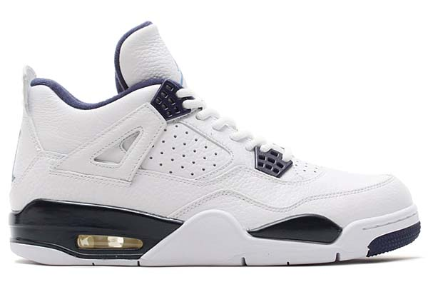 NIKE AIR JORDAN 4 RETRO LS [WHITE / LEGEND BLUE-MIDNIGHT NAVY] 314254-107