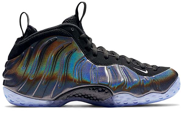 NIKE AIR FOAMPOSITE ONE HOLOGRAM [MULTI-COLOR / METALLIC SILVER-BLACK] 314996-900