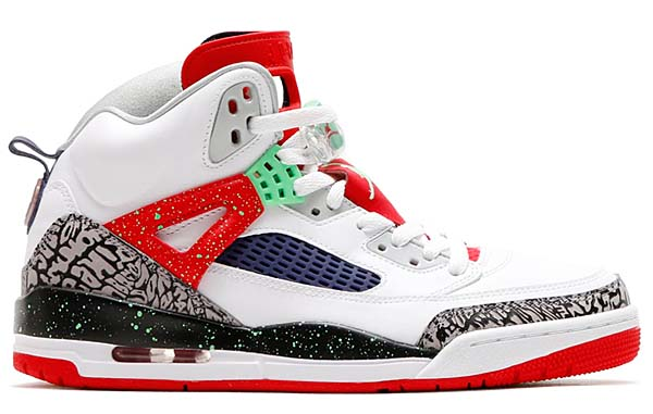 NIKE JORDAN SPIZIKE [WHITE / LIGHT POISON GREEN-UNIVERSITY RED-GREY MIST] 315371-132