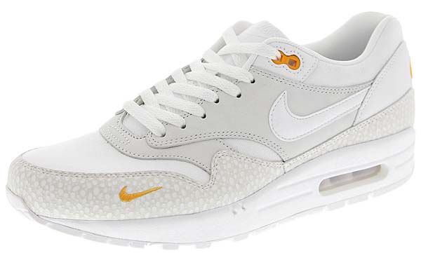 NIKE AIR MAX 1 PRM [WHITE / WHITE-KUMQUAT] 512033-110