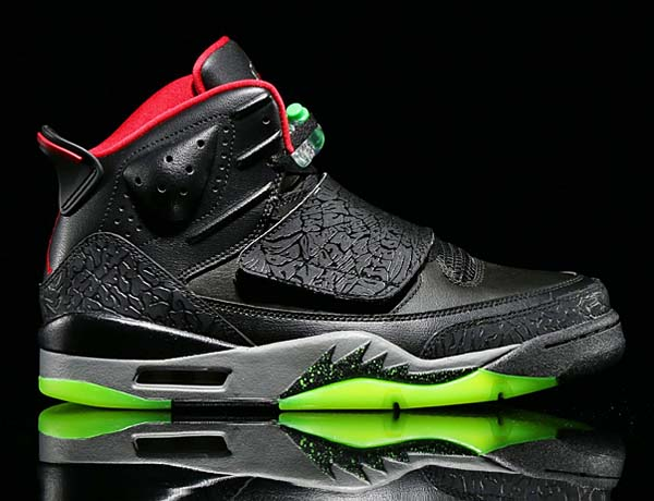 NIKE JORDAN SON OF MARVIN THE MARTIAN [BLACK / GYM RED-COOL GREY-GREEN PULSE] 512245-006