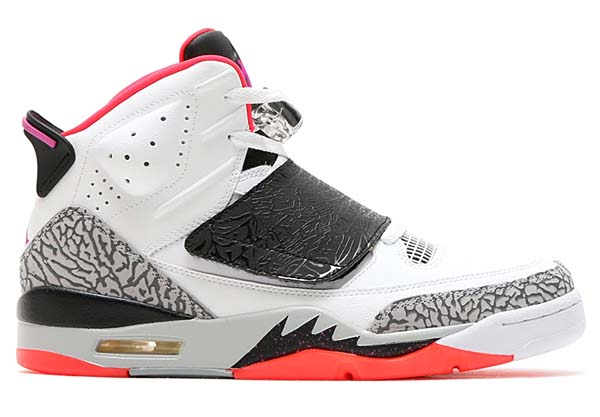 NIKE JORDAN SON OF [WHITE / FUCHSIA FLASH-BLACK-WOLF GREY] 512245-105