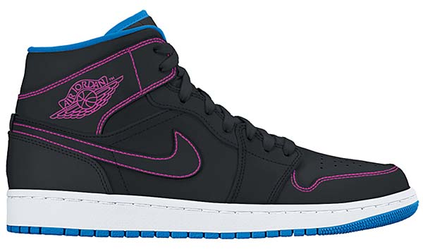 NIKE AIR JORDAN 1 MID [BLACK / FIRE PINK-PHOTO BLUE] 554724-029