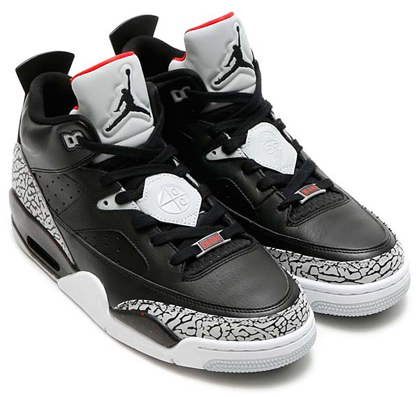 NIKE JORDAN SON OF LOW [BLACK / BLACK-UNIVERSITY RED-GREY MIST] 580603-002