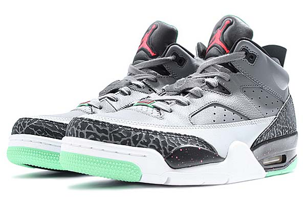 NIKE JORDAN SON OF LOW [COOL GREY / INFRARED 23-BLACK-LIGHT POISON GREEN] 580603-031