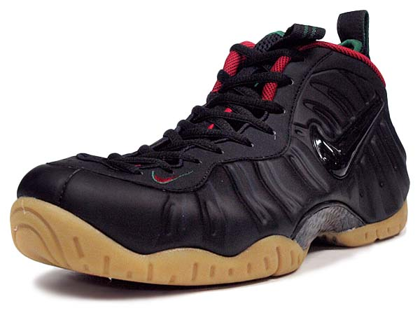 NIKE AIR FOAMPOSITE PRO GUCCI [BLACK / GORGE GREEN-METALLIC GOLD-GYM RED] 624041-004
