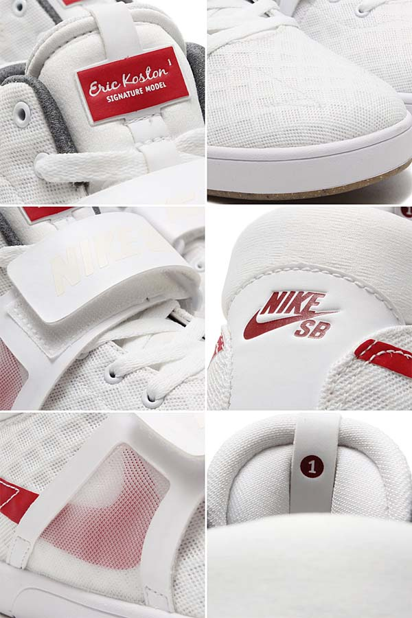 NIKE ERIC KOSTON MID R/R [WHITE / GYM RED-BLACK-GUM MID BROWN] 654146-162