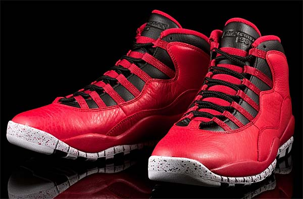 NIKE AIR JORDAN 10 RETRO 30th ANNIVERSARY BULLS OVER BROADWAY [GYM RED/BLACK-WOLF GREY] 705178-601
