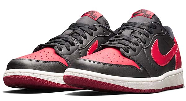 NIKE AIR JORDAN 1 RETRO LOW OG [BLACK / VARSITY RED-SAIL] 705329-001