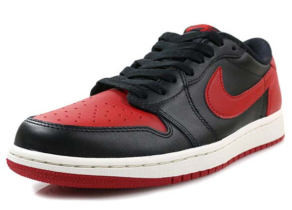 NIKE AIR JORDAN 1 RETRO LOW OG [BLACK / VARSITY RED-SAIL] 705329-001