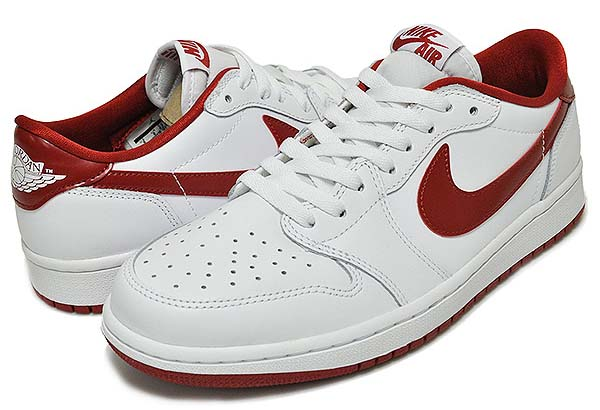 NIKE AIR JORDAN 1 RETRO LOW OG [WHITE / VARSITY RED-WHITE] 705329-101